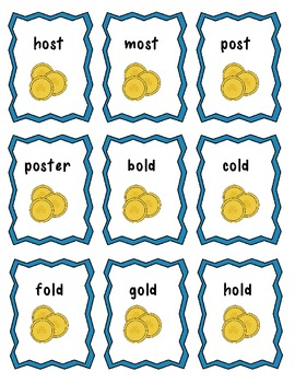 A Long o (-ost and -old) Word Game: A Treasure of Gold