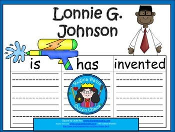 A+ Lonnie G. Johnson... Three Graphic Organizers