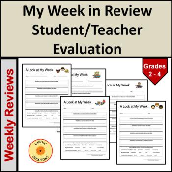 A Look at My Week: Student Weekly Review Sheet