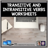 Transitive and Intransitive Verbs Grammar Worksheets for D