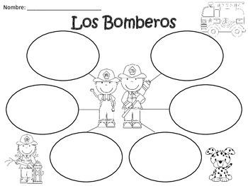 A+ Los Bomberos: Spanish Graphic Organizers