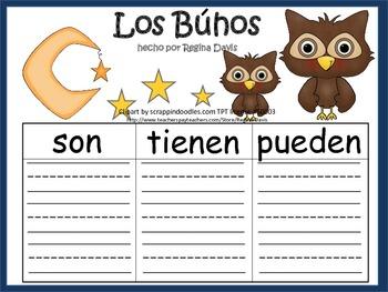 A+ Los Buhos: Spanish Graphic Organizers