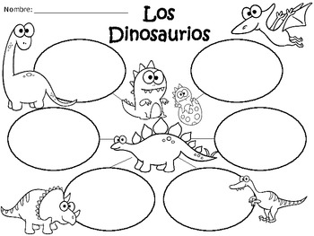 A+ Los Dinosaurios...Three Spanish Graphic Organizers