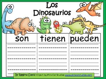 A+ Los Dinosaurios...Three Spanish Graphic Organizers