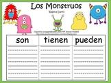 A+ Los Monstruos: Spanish Graphic Organizers
