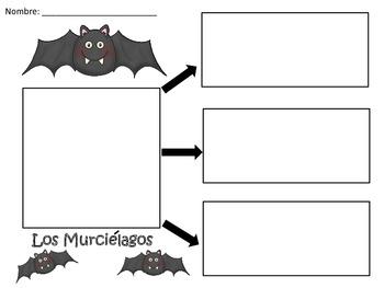A+ Los Murcielagos: Spanish Graphic Organizers