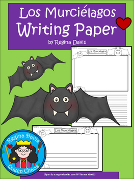 A+ Los Murciélagos (The Bats) Spanish Differentiated Writing Paper
