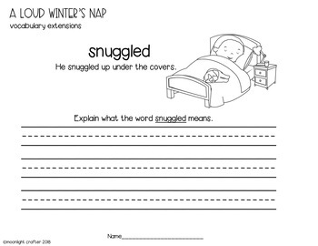 A Loud Winter's Nap Book Companion