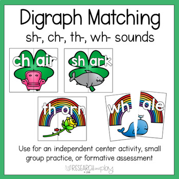 St. Patrick's Day Digraph Matching Activity