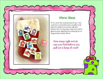 Sight Word Game: A Lump of Coal
