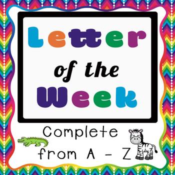 No-Prep A - Z Letter Printable Packs {COLOUR}