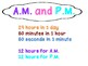 A.M. and P.M. Anchor Chart