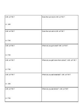 A.M. and P.M. Quiz-Quiz-Trade