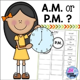AM or PM? Cut and Paste Sorting Activity