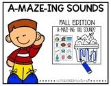 A'MAZE'ING Fall Beginning Sounds Mazes