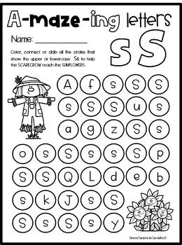 A-MAZE-ING LETTERS - ALPHABET LETTER RECOGNITION