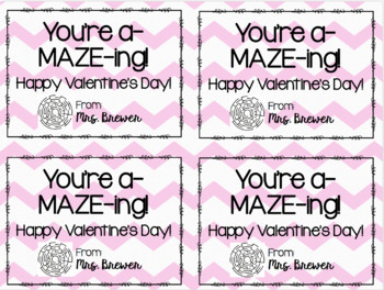 A-MAZE-ING Printable Valentines