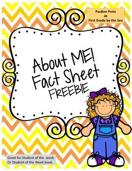A ME Fact Sheet Freebie