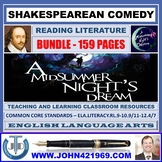 A MIDSUMMER NIGHT'S DREAM - SHAKESPEAREAN COMEDY - CLASSROOM RESOURCES BUNDLE