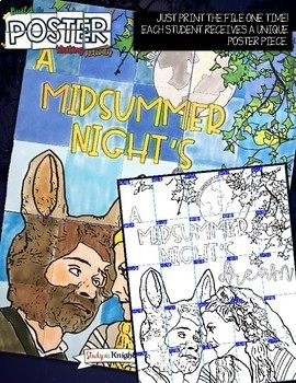 A MIDSUMMER NIGHT'S DREAM, WILLIAM SHAKESPEARE, COLLABORATIVE POSTER