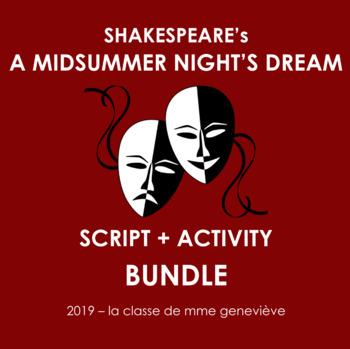 A MIDSUMMER NIGHT'S DREAM - adapted classroom script + activities