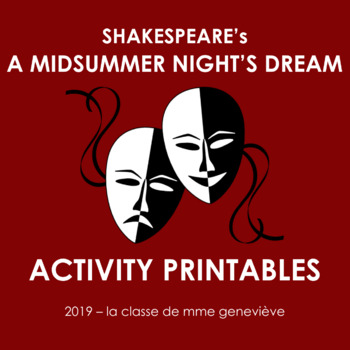 A MIDSUMMER NIGHT'S DREAM - activity pack