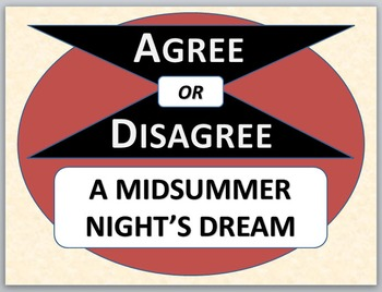 A MIDSUMMER NIGHT'S DREAM - Agree or Disagree Pre-reading
