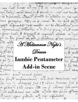 A MIDSUMMER NIGHT'S DREAM IAMBIC PENTAMETER ASSIGNMENT