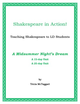 A MIDSUMMER NIGHT'S DREAM ~ Shakespeare for LD Students ~ in Action!
