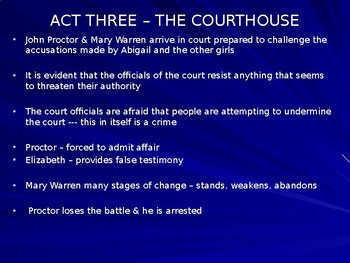 A. MILLER / THE CRUCIBLE / A3 THE COURTHOUSE