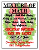 A MIXTURE OF MATH CHRISTMAS DECODING MATH FUN PACKET CCSS