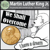 A MLK-Martin Luther King Jr Clip Art Freebie {Messare Clips and Design}