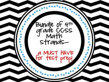 A MUST HAVE bundle for 4th grade math teachers- Word problems for all strands