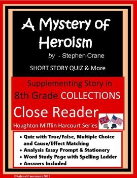 A MYSTERY OF HEROISM Close Reading Quiz & More
