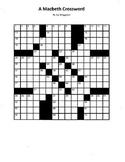 A Macbeth Crossword, William Shakespeare, Fun Macbeth Revi