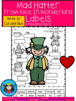 A+ Alice In Wonderland: Mad Hatter Labels