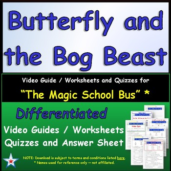 Differentiated Worksheet Quiz Ans For Magic School Bus Butterfly
