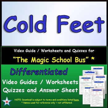 "A Magic School Bus ** ""Cold Feet"" Worksheet, Answer Sheet,"