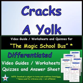 """A Magic School Bus ** """"Cracks a Yolk"""" Worksheet, Answer Sh"""