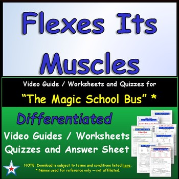 "A Magic School Bus ** ""Flexes Its Muscles"" Worksheet, Answ"
