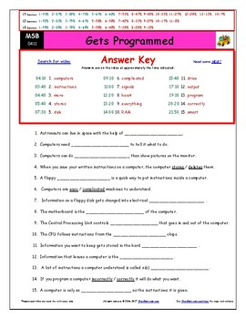 Differentiated Worksheet, Quiz, Ans for Magic School Bus - Gets Programmed  *