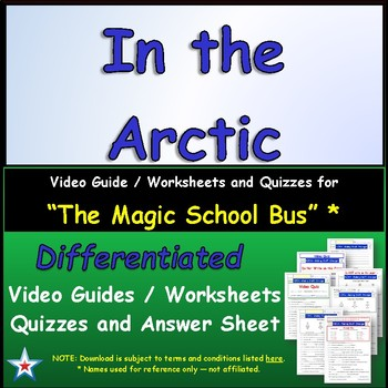 "A Magic School Bus ** ""In The Arctic"" Worksheet, Answer Sh"