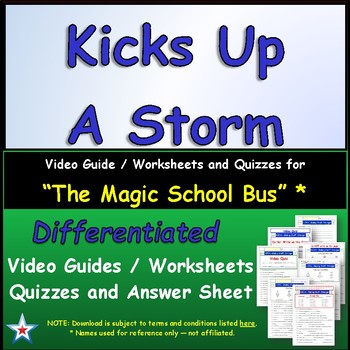 "A Magic School Bus ** ""Kicks Up Storm"" Worksheet, Answer S"