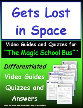 """A Magic School Bus ** """"Lost in Space"""" Worksheet, Answer Sheet, Two Quizzes."""