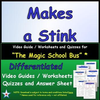 "A Magic School Bus ** ""Makes a Stink"" Worksheet, Ans Sheet"