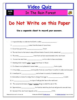 differentiated worksheet quiz ans for magic school bus in the rain forest. Black Bedroom Furniture Sets. Home Design Ideas