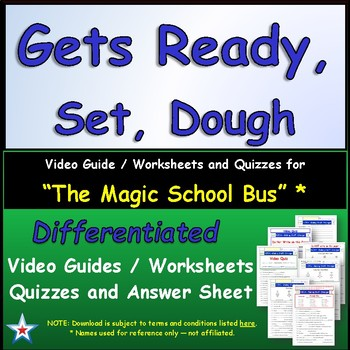 "A Magic School Bus ** ""Ready, Set, Dough"" Worksheet, Answe"
