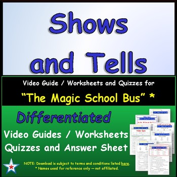 "A Magic School Bus ** ""Shows and Tells""  Worksheet, Ans Sh"
