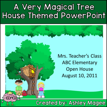 a magical tree house powerpoint templatemrs magee | tpt, Modern powerpoint