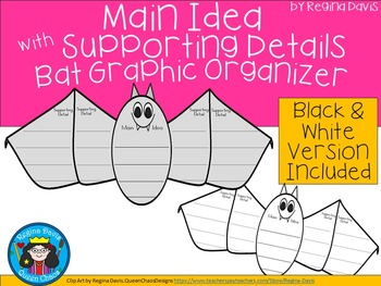 A+ Main Idea with Supporting Details: Bat Graphic Organizer